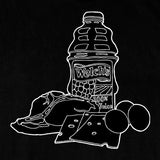 'T-Bone Steak, Cheese, Eggs & Welch's Grape' T-Shirt (Black)