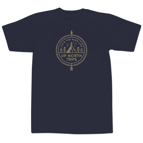'The High Life' T-Shirt (Navy Blue)