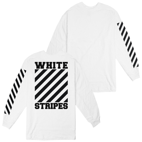 'The White Stripes' L/S T-Shirt (White)