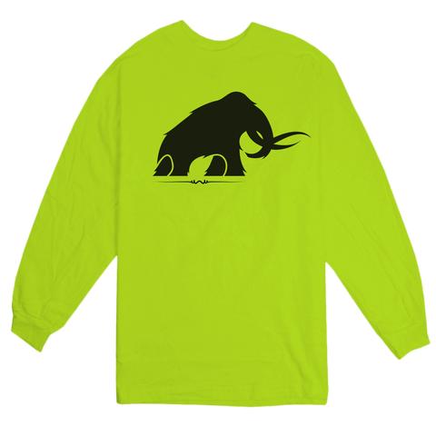 'Mammoth' LongSleeve T-Shirt (Safety Yellow)
