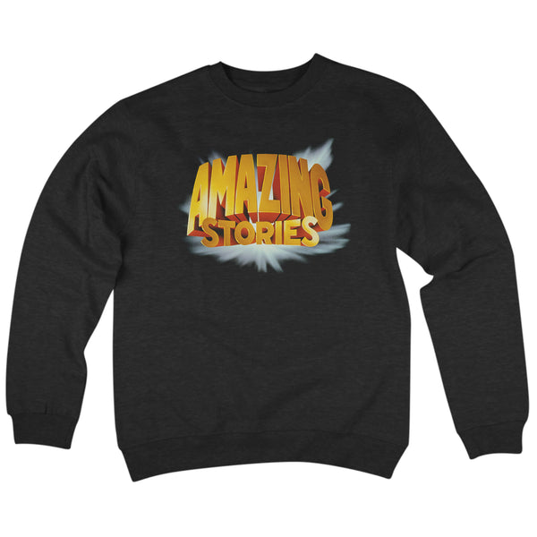'Amazing Stories' Crewneck Sweatshirt (Black)