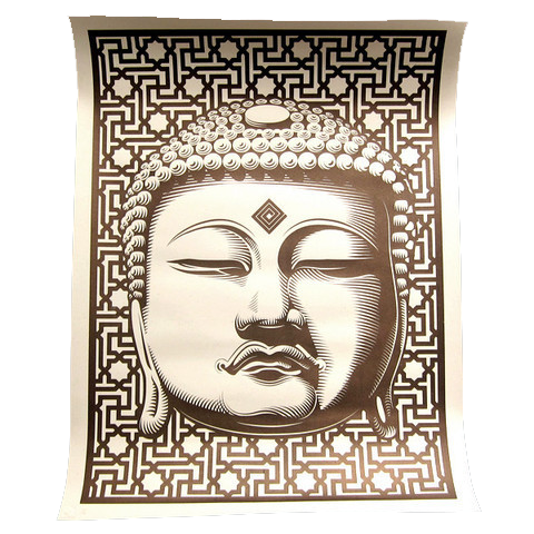 "'Buddha' Screenprint (19""x 25""), Signed, Numbered, (1 of 25)"