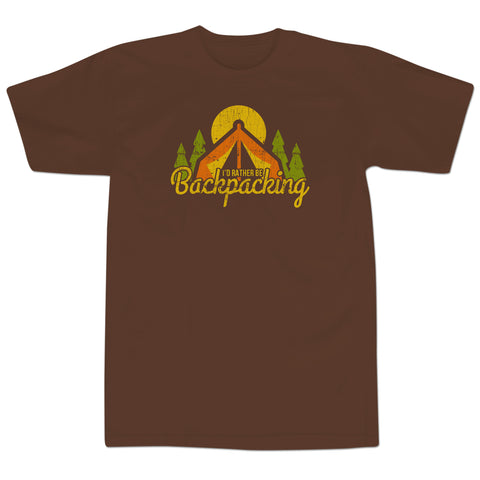 'Backpacker' T-Shirt (Chocolate)