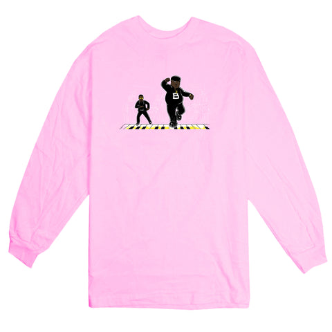 'BIG' L/S T-Shirt (Light Pink)