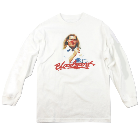'Bloodsport' L/S T-Shirt (White)