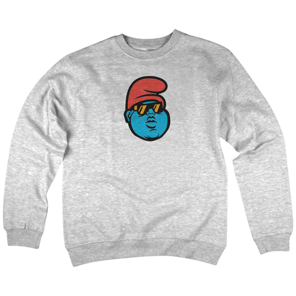 'B.I.G. Papa' Crewneck Sweatshirt (Heather Grey)