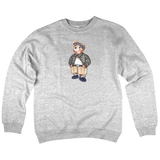 'Cholo Bear' Crewneck Sweatshirt (Heather Grey)