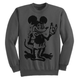 'Mouse Fink' Crewneck Sweatshirt (Gunmetal Heather Grey)