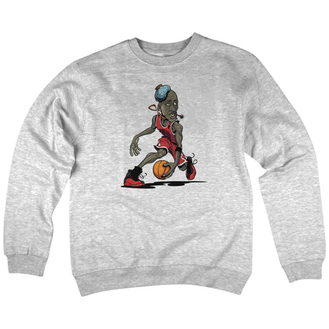 'Flu Game' Crewneck Sweatshirt (Heather Greyl)