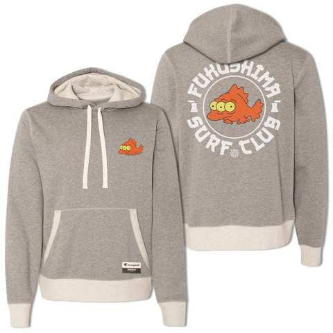'Fukushima Surf Club Champion' Hoodie (Oxford Grey/Oatmeal) *Limited Edition*