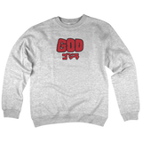 'God' Crewneck Sweatshirt (Heather Grey)