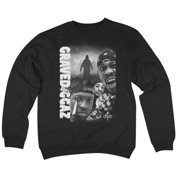 'Gravediggaz' Crew Neck Sweatshirt (Black)