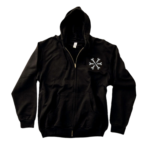 'Womb To The Tomb' Zip-Up Hoodie (Black)