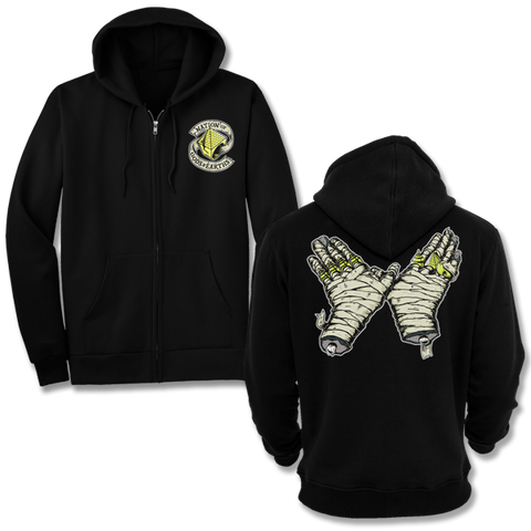 'Pharaoh Suuulute' Zip-Up Hoodie (Black)