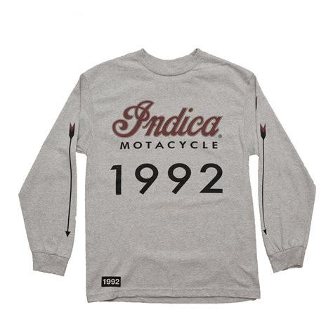 'Indica Motacycle' Long Sleeve T-Shirt (Heather Grey)
