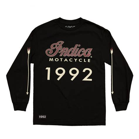 'Indica Motacycle' Long Sleeve T-Shirt (Black)