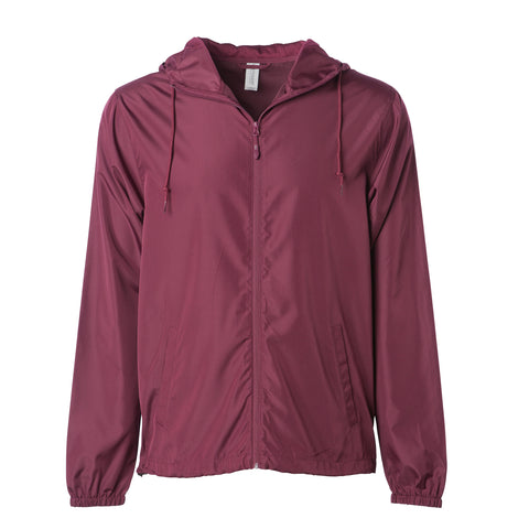 'Essentials Lightweight Windbreaker' (Burgundy)