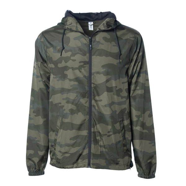 'Essentials Lightweight Windbreaker' (Forrest Camo)