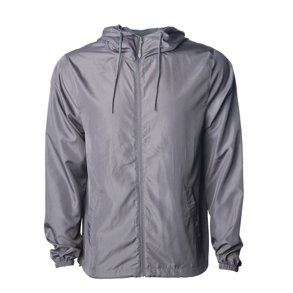 'Essentials Lightweight Windbreaker' (Grey)