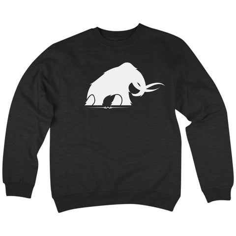 'Mammoth' Crew Neck Sweatshirt (Black)
