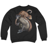 'Monkey On Your Shoulders' Crew Neck Sweatshirt (Black)
