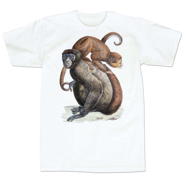 'Monkey On Your Shoulders' T-Shirt (White)