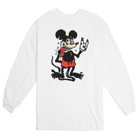 'Mouse Fink' L/S T-Shirt (White)