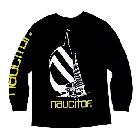 'Nauc It Off' Long Sleeve T-Shirt (Black)