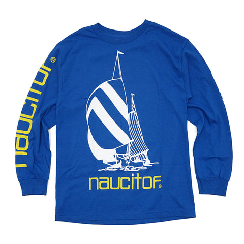 'Nauc It Off' Long Sleeve T-Shirt (Blue)