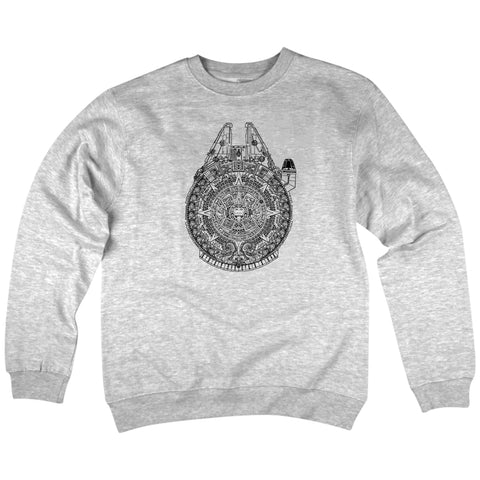 'New Millennium' Crewneck Sweatshirt (Heather Grey)