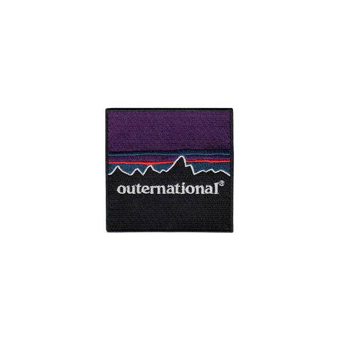 'Outernational' Embroidered Patch