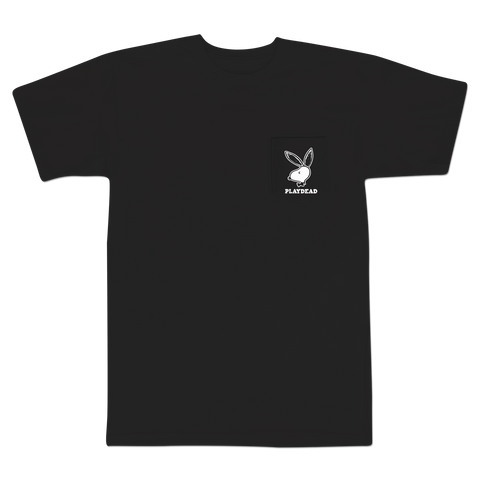 'PlayDead' Pocket T-Shirt (Black)