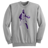'Kobe Villain' Purple Edition Crewneck Sweatshirt (Heather Grey)