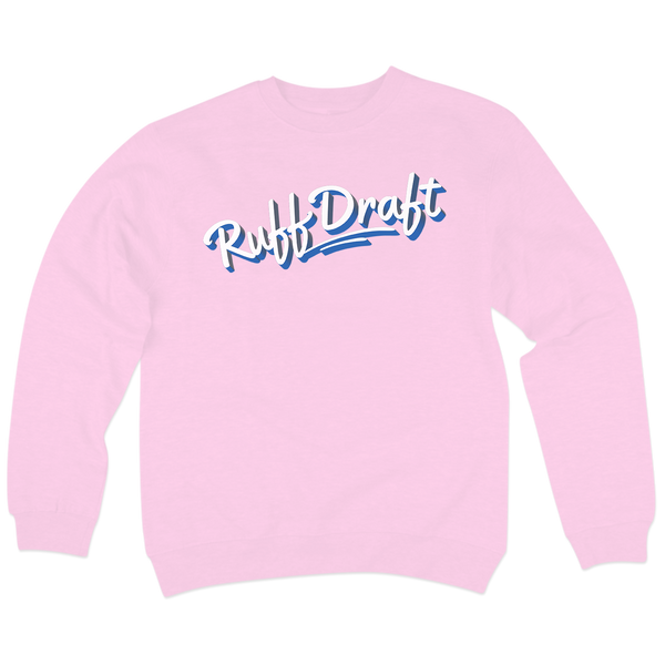 'Ruff Draft' Crewneck Sweatshirt (Light Pink)