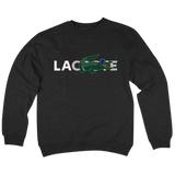 'LA coste' Crewneck Sweatshirt (Black)