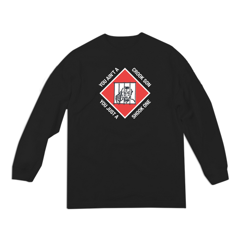 'Shook One' LongSleeve T-Shirt (Black)
