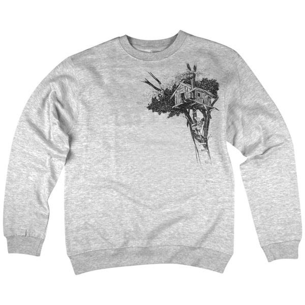 'Treehouse' Crewneck Sweatshirt (Heather Grey)