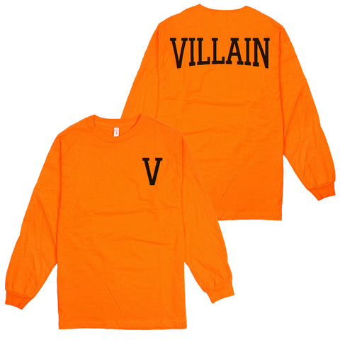 'Villain' L/S T-Shirt (Orange)