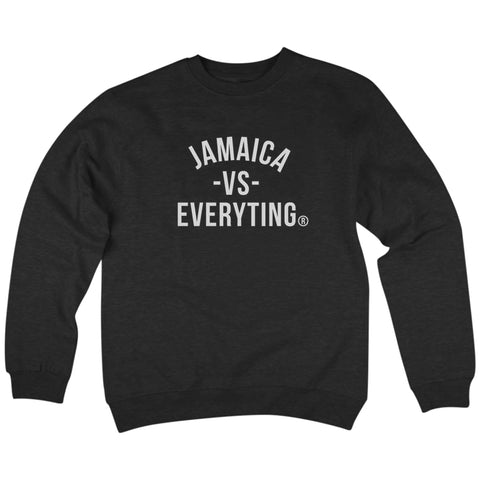 'Jamaica vs Everyting' Crewneck Sweatshirt (Black)