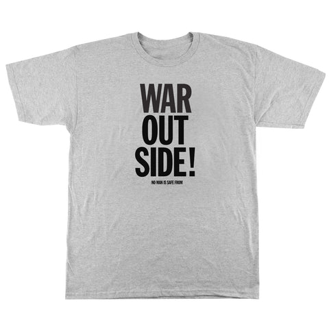 'War Outside' T-Shirt (Heather Grey)
