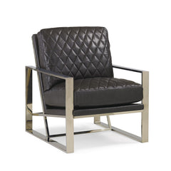 gold and leather modern chair