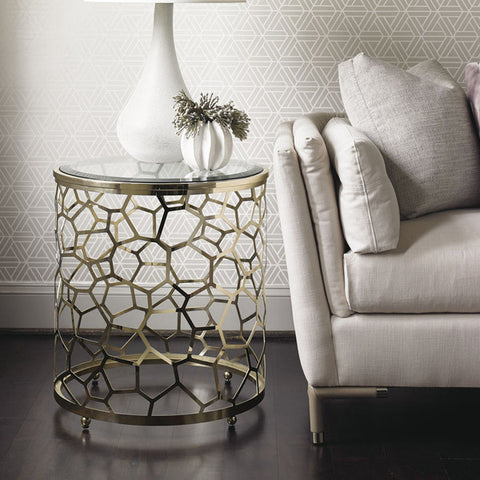 gold and glass side table