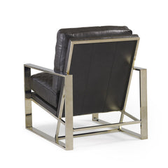 leather and gold modern chair