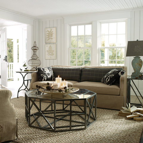 hamptons style living room