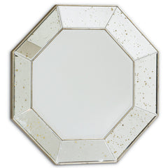 Round Mirror - Octagon Antiqued Mirror
