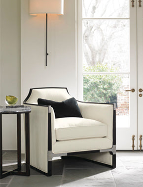 contemporary white chair