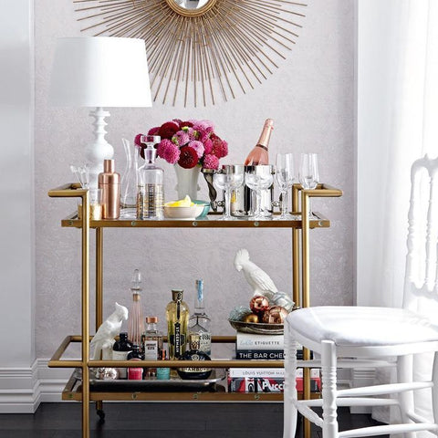 The Bar Cart Luxury Home Entertaining At It S Best