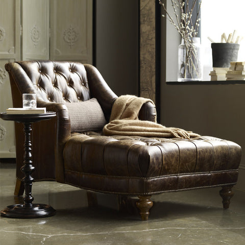 chesterfield leather chaise lounge