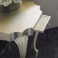 Mirror Side Table - Eloise Gold Side Table - Max Sparrow