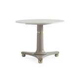 Marble Top Round Side Table with Gold